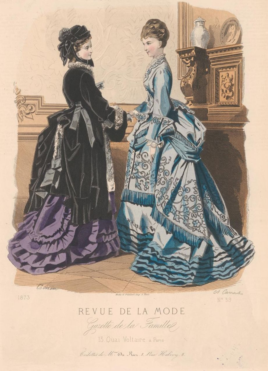 revue de la mode 1873 1873s fashion plates pinterest fashion plates 1870s fashion and bustle. Black Bedroom Furniture Sets. Home Design Ideas