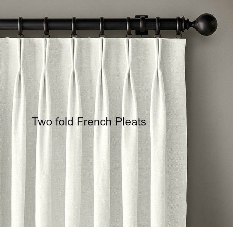 Pleated Window Curtains Faux Dupioni Silk Drapes Champagne Etsy In 2020 Pinch Pleat Curtains Curtains Pleated Curtains