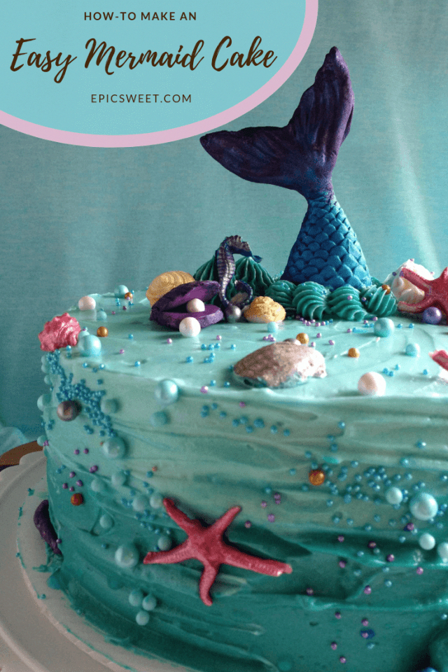 Sensational How To Make An Easy Mermaid Cake With Images Mermaid Cakes Birthday Cards Printable Opercafe Filternl