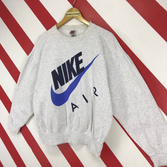 Nike Vintage White Sweatshirt Crewneck Jumper Nike Sweatshirt Nike Hoodie Vintage Sweatshirt Nike Sweater