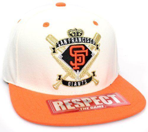 a17d24684f4 San Francisco Giants Flat Bill Crest Style Snapback Hat Cap White Orange  MLB.  16.99