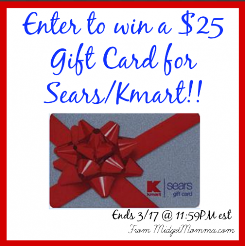 Today 3 17 Only Enter To Win A 25 Kmart Sears Gift Card Gift Card Cards Gifts