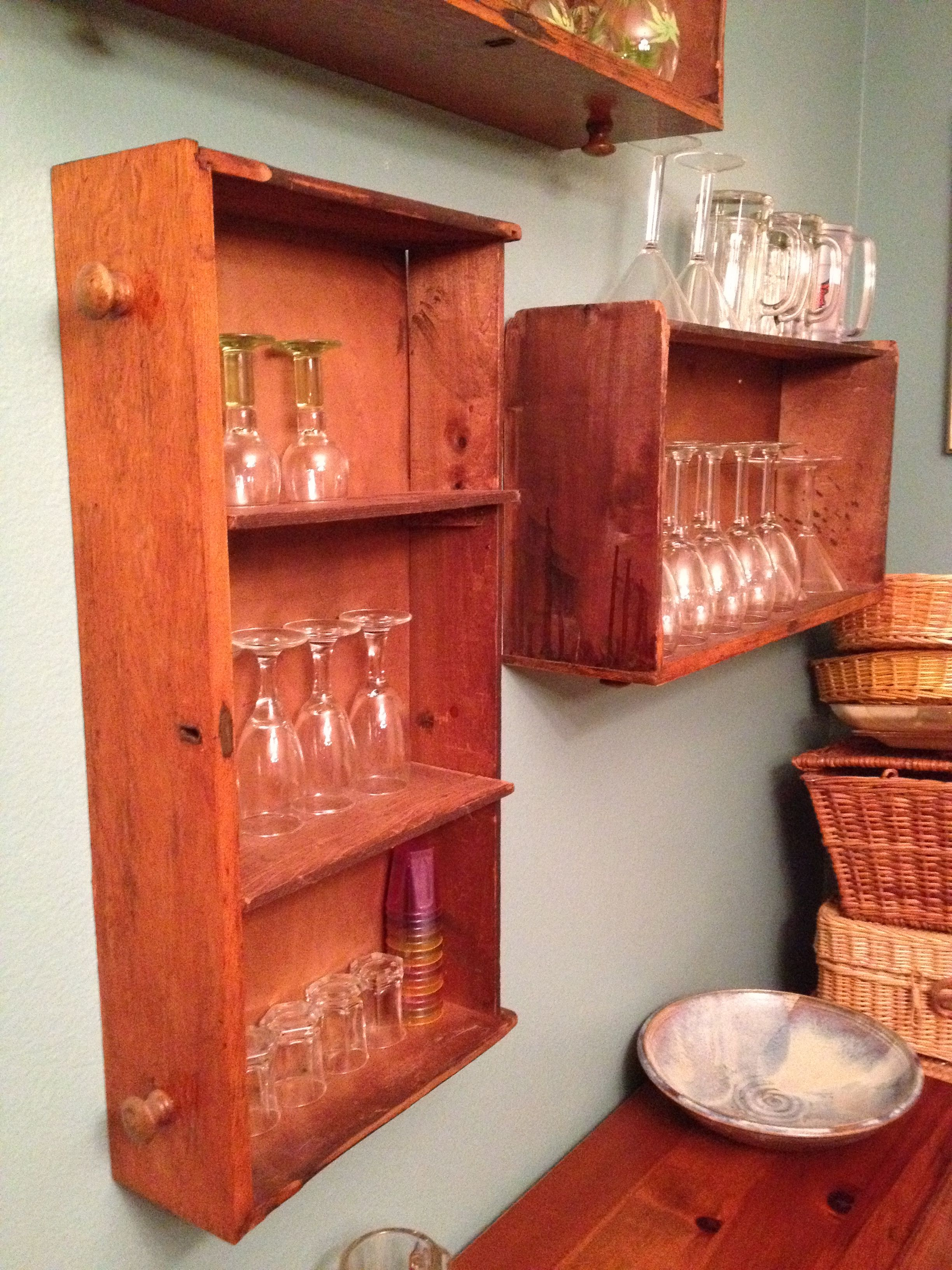 Repurposed dresser drawers *idea for old dresser drawers
