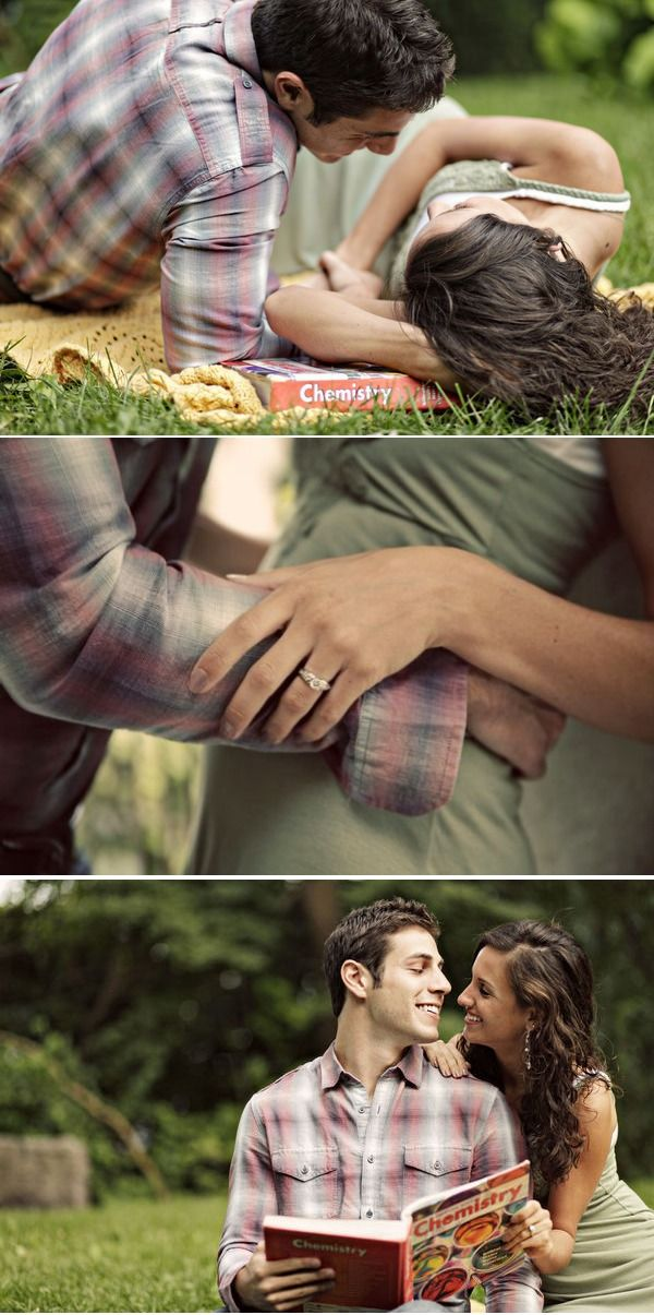 cute engagement shoot
