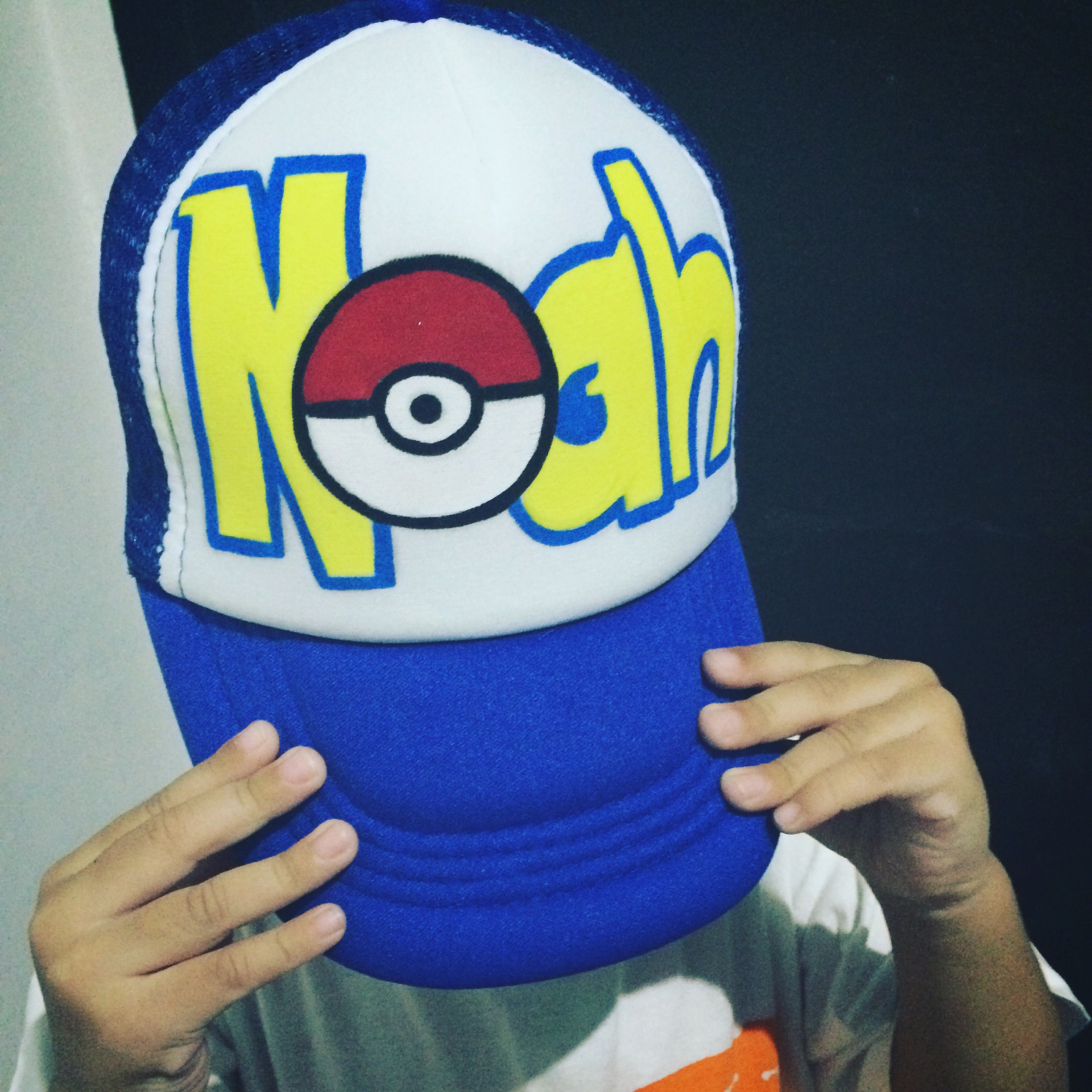 6a0a8583eda Noah~ My nephew s new cap!! Painted by me  cap  painting  pokemon ...