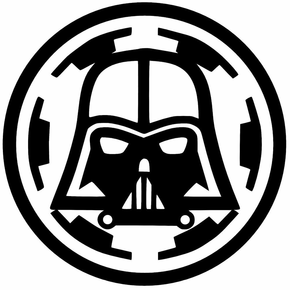 Details About Darth Vader Over Empire Vinyl Decal