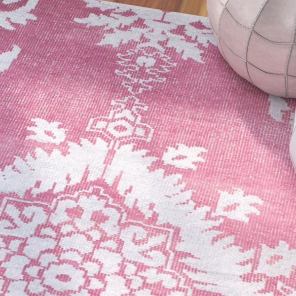 Moulouya Hand-Knotted Pink Area Rug