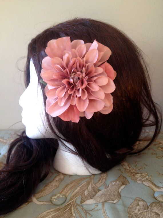 Large Pink Hairflower by PinUpDesires on Etsy, $8.00