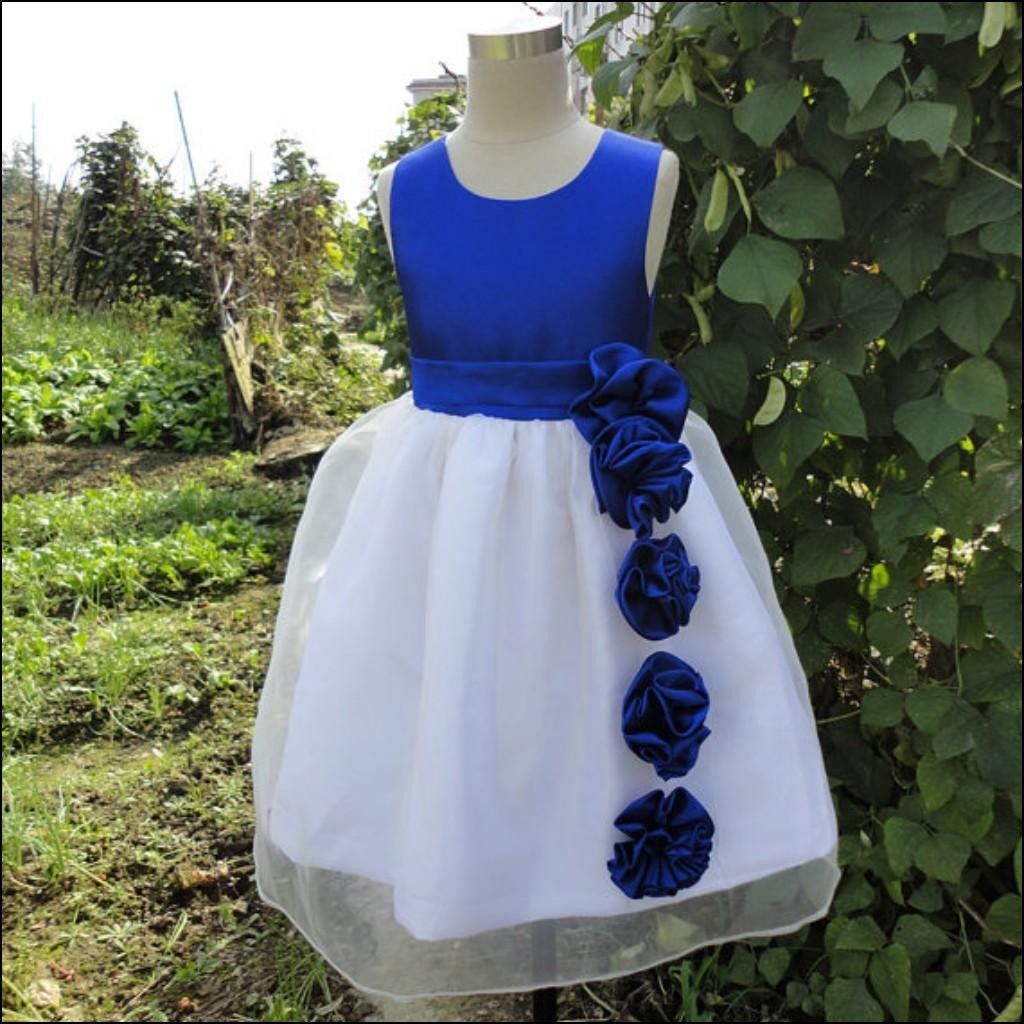 Royal blue and white wedding dress  White and Royal Blue Flower Girl Dresses  Dresses and Gowns Ideas