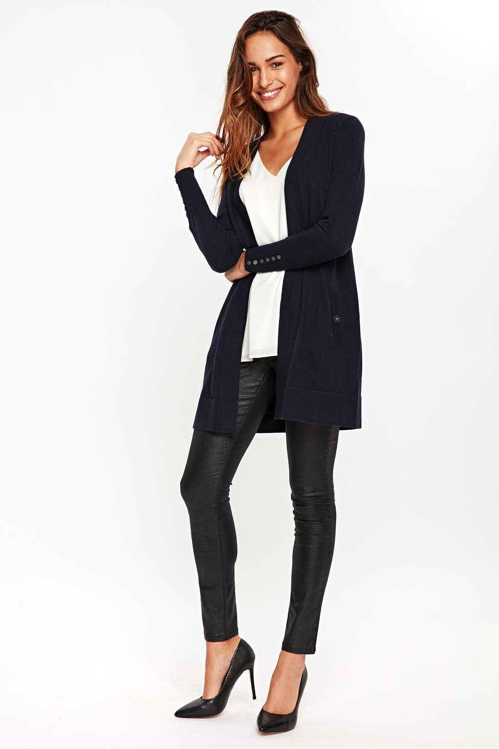 d05719f6a6 Wallis - Navy Longline Cardigan. Currently reduced from £33.00 to £26.40. A