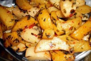 Zöldfűszeres sült krumpli