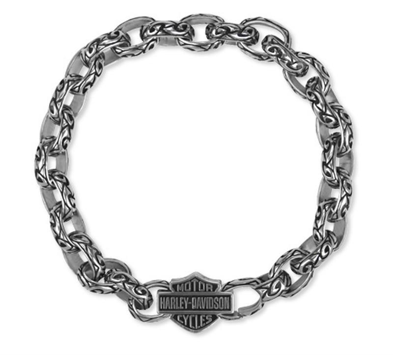 a3c948f0cdb0d Harley-Davidson® Women's Ancient Tribal .925 Silver Chain Bracelet HDB0247