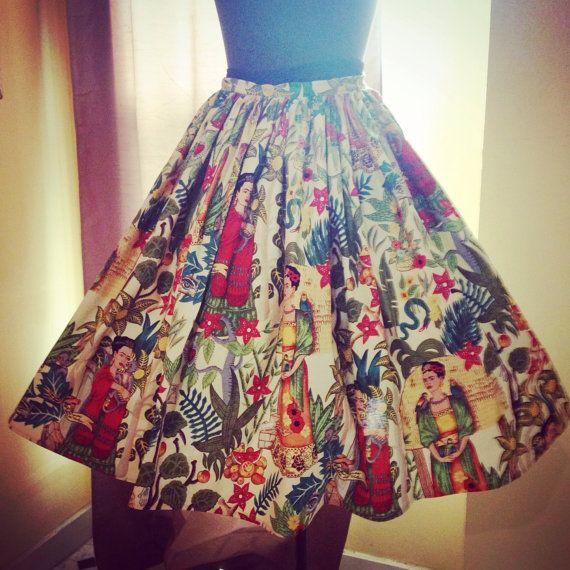 2011ef418 Frida Kahlo Day of the Dead Skulls Skirt by VintageGaleria on Etsy | so  mexican | Skirts, Women's fashion leggings, Day of the dead skull