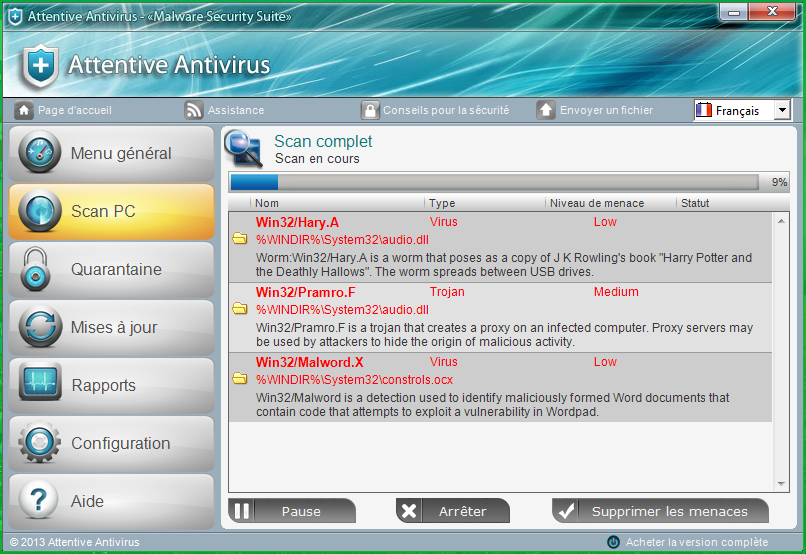 Attentive Antivirus removal instructions and removal tool