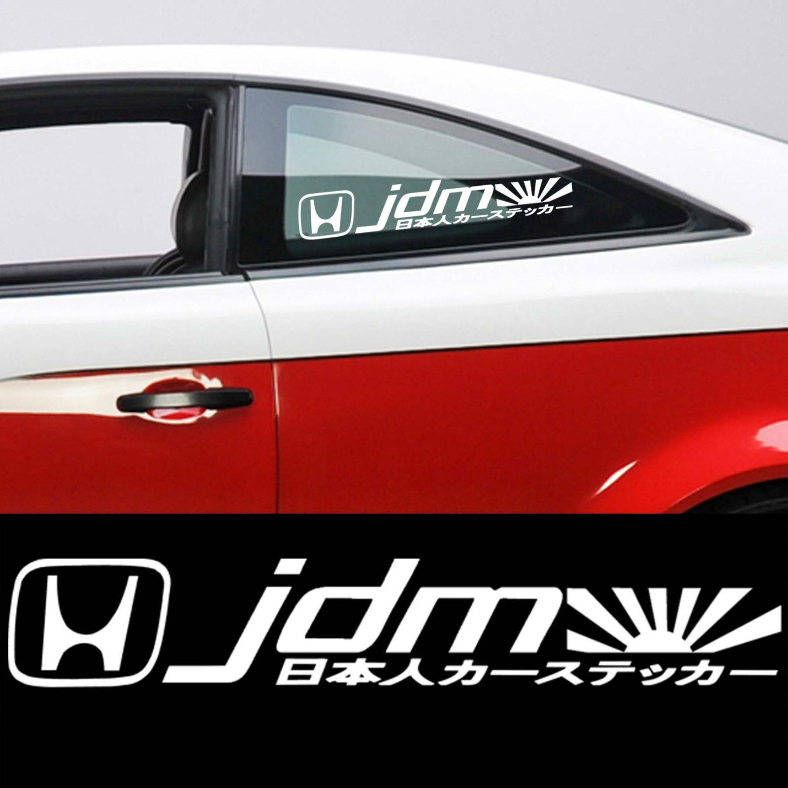 Details About 2 White Kanji Racing Car Decal Sticker K
