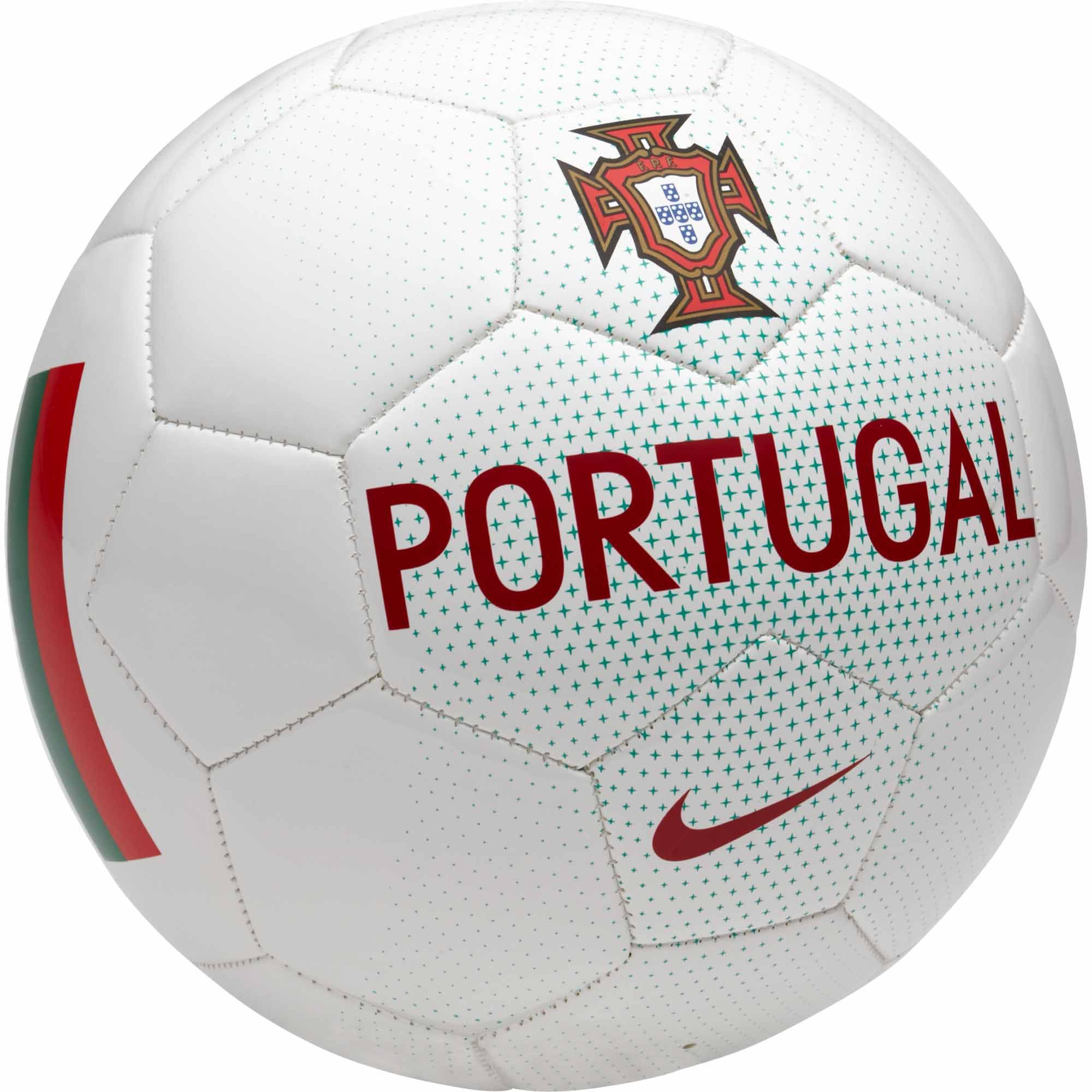 Nike Portugal Supporter Soccer Ball – White Kinetic Green  bb88566f6763c