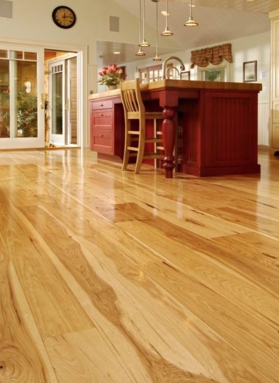 Hickory Hardwood Flooring In Kitchen Space Carlisle Hickory