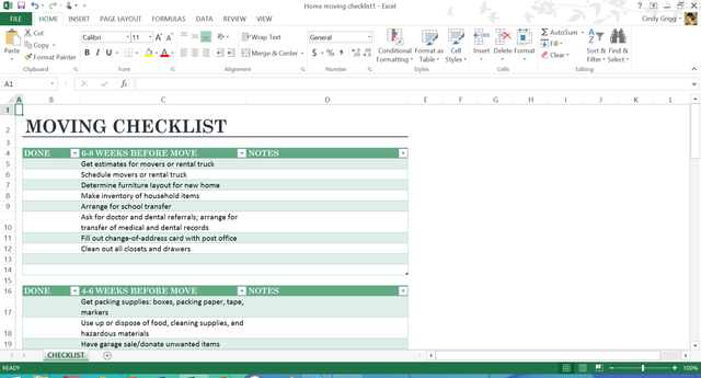 Free Templates Arenu0027t Just For The Office!: Moving Checklist And Scheduling  Template  Microsoft Office Inventory Template