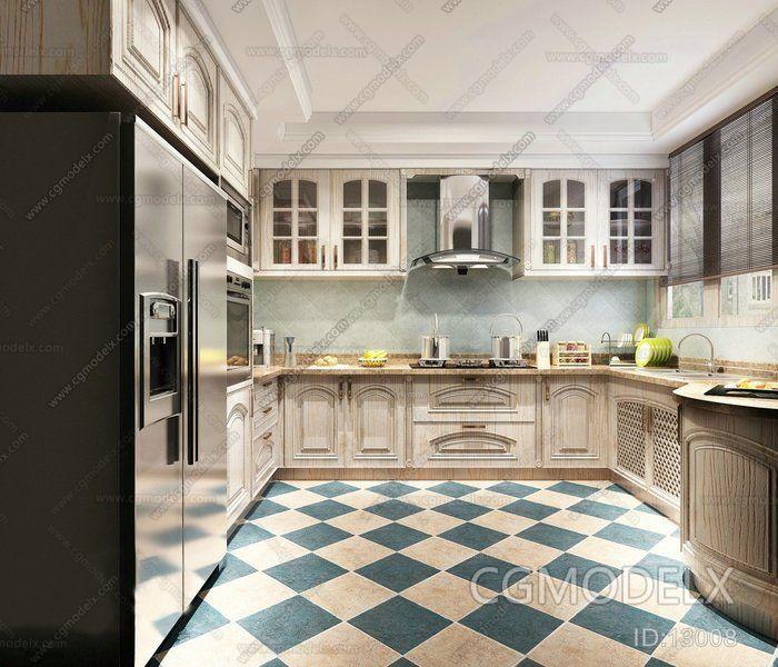 European Style Kitchen Remodeling Ideas: European Kitchen 3d Model Interior Design Ideas Kitchen 3d