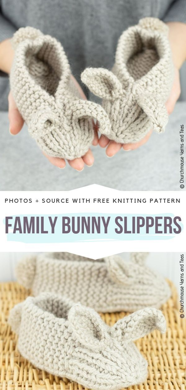 Photo of Cute Bunny Slippers Ideas Free Knitting Patterns