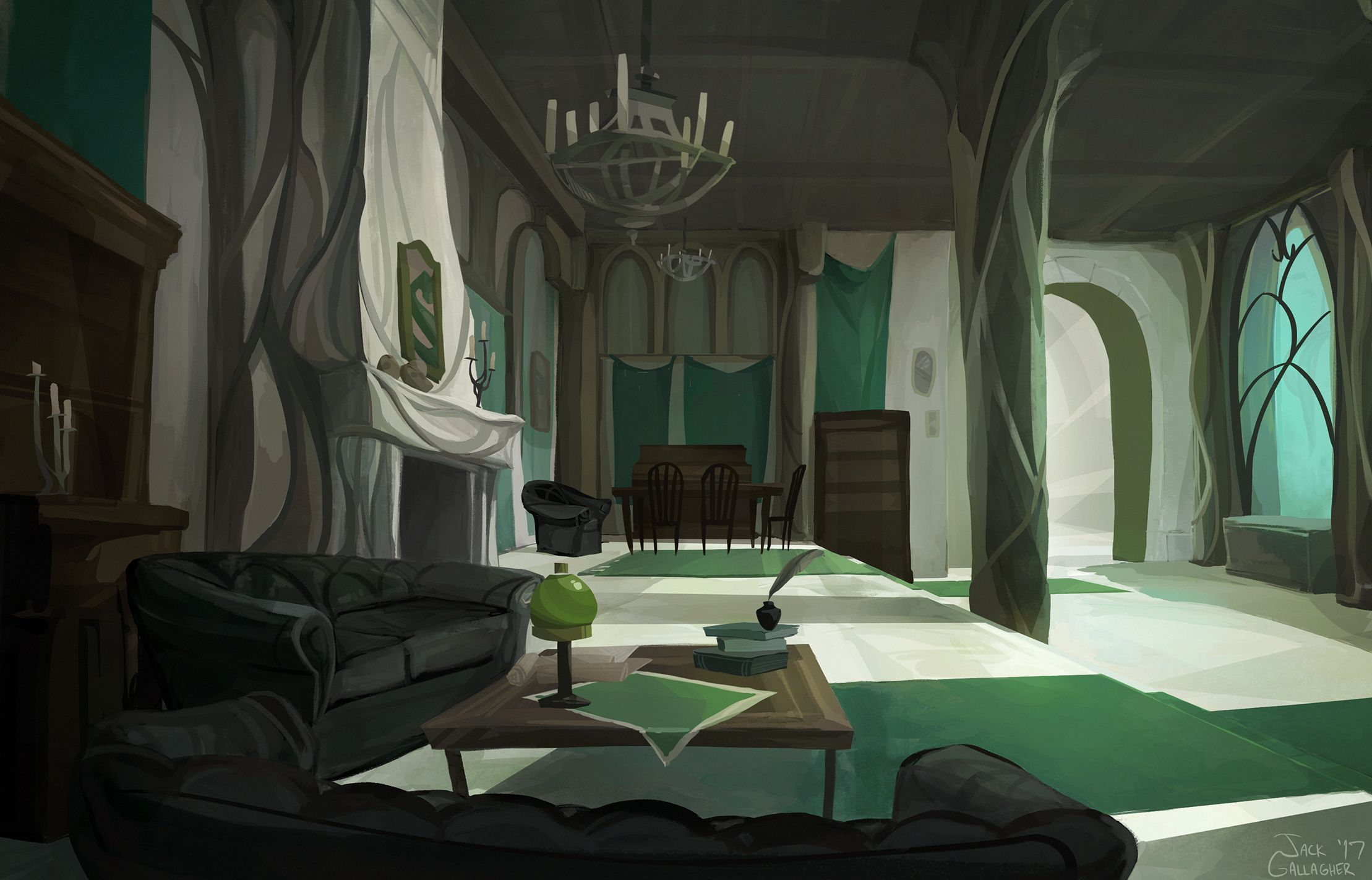 Slytherin Common Room By Tofuslaw Slytherin