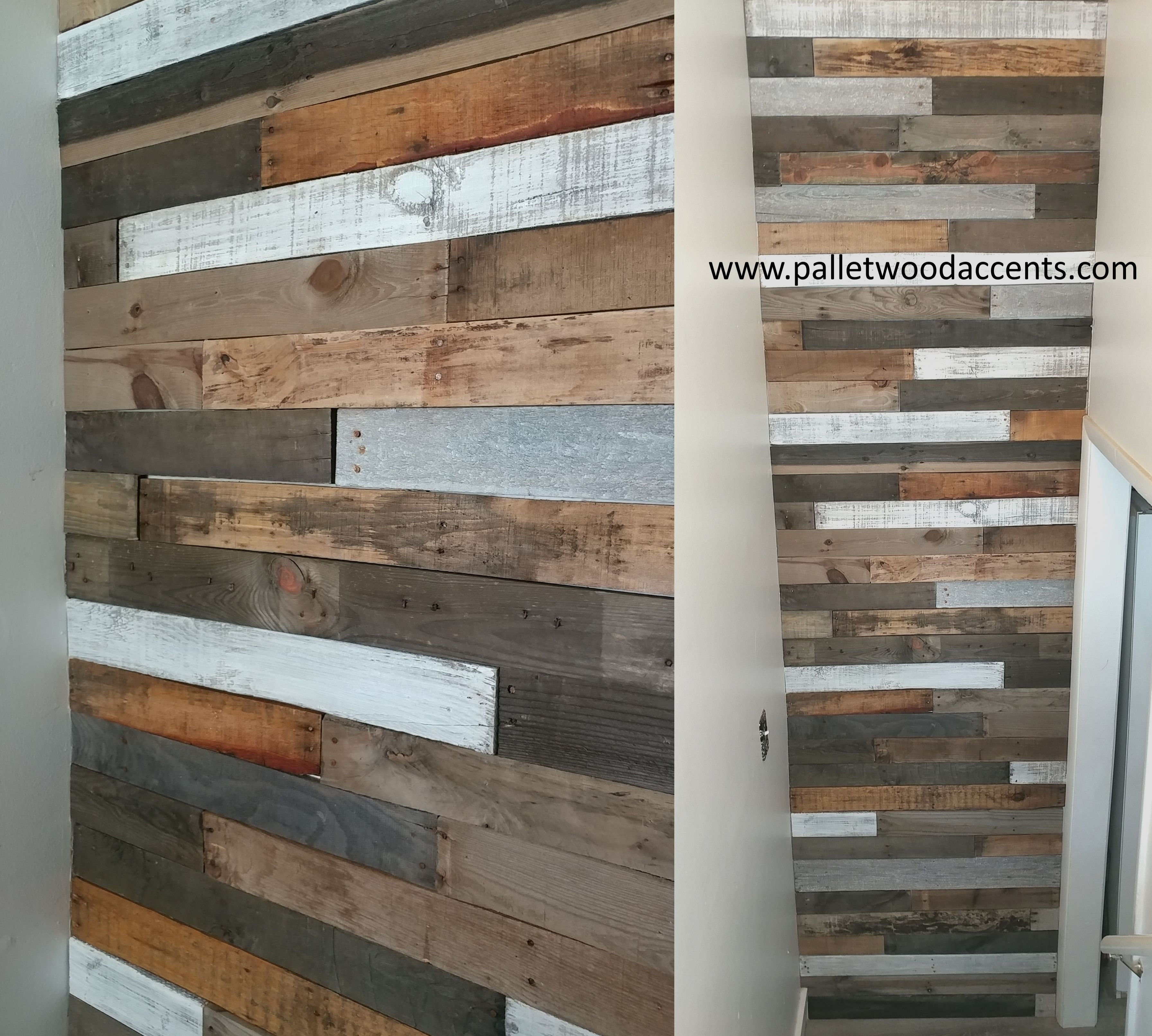 Diagonal Wood Pallet Accent Wall: Pin By SLC Pallet Walls On Pallet Wood Accent Walls