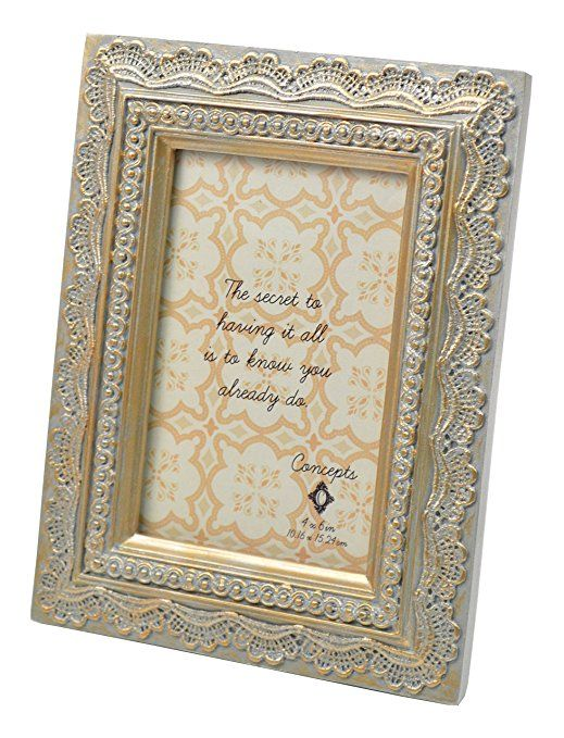 Concepts Gold And Silver Lace Pattern Resin Picture Frame 4x6 ...