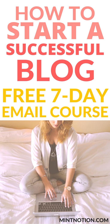 Start A Blog Free Course Work From Home Make Money Blogging Side Hustles