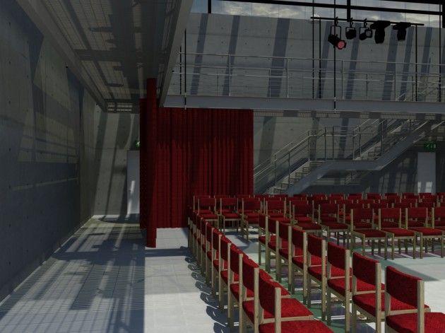 Vray Render of a Community Arts Centre Theatre I designed.