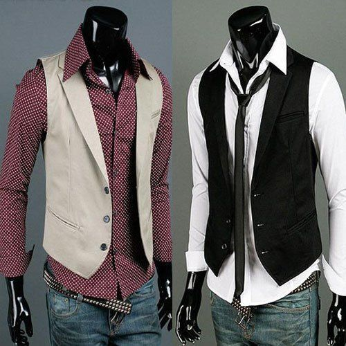popular men clothes | hottest personality male slim vest top men s ...