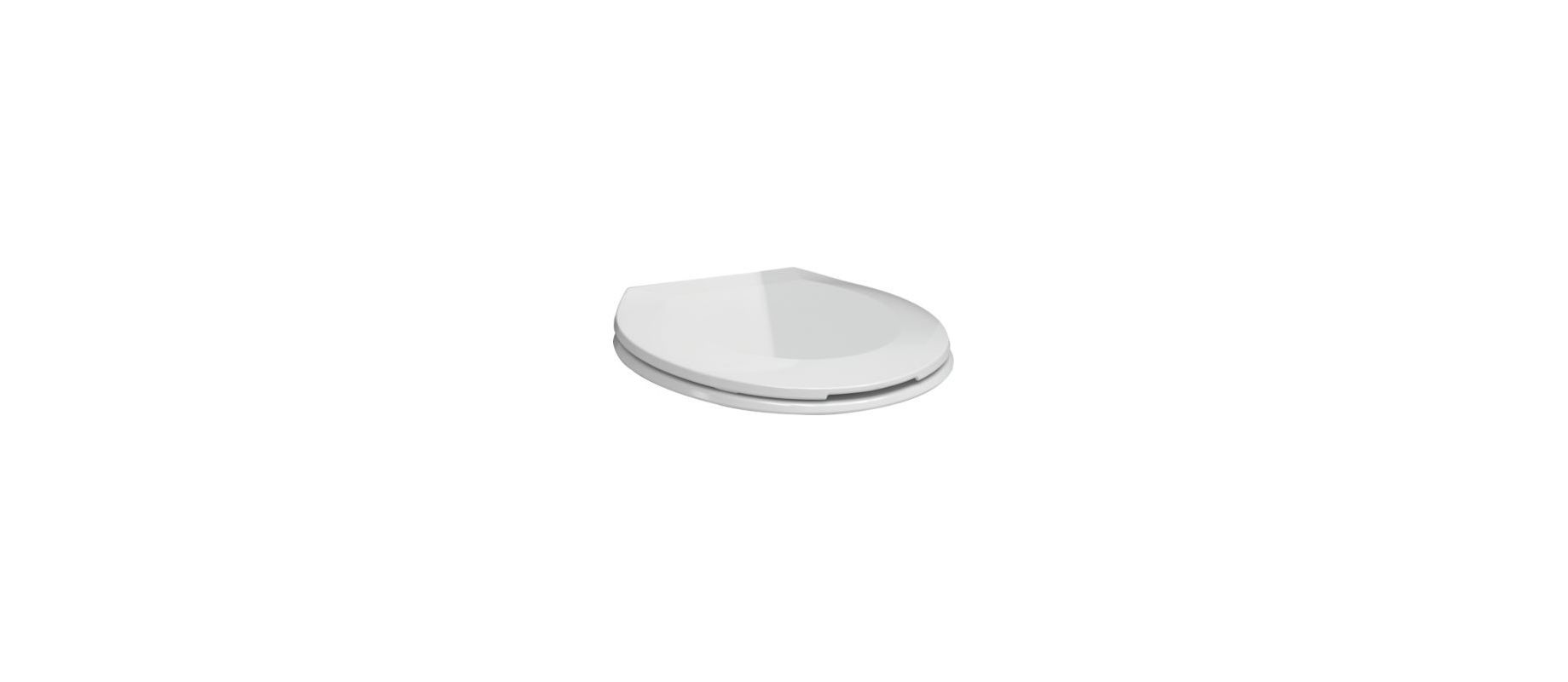 Delta RP76685 Brevard Round Front Toilet Seat with Soft Close White Accessory Toilet Seat Round