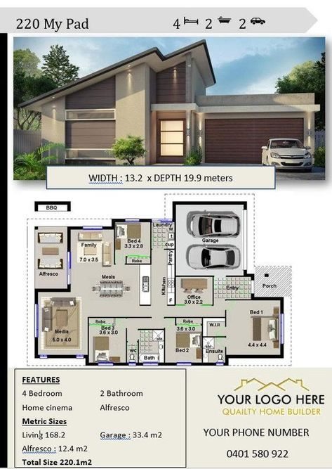 Home Builders Buy Our Stock House Plans With Your Name And Logo These House Plans Are Ideal For Your Websi Narrow Lot House Plans Narrow Lot House House Design