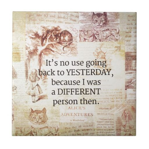 Alice in Wonderland Whimsical Quote Ceramic Tile | quotes ...