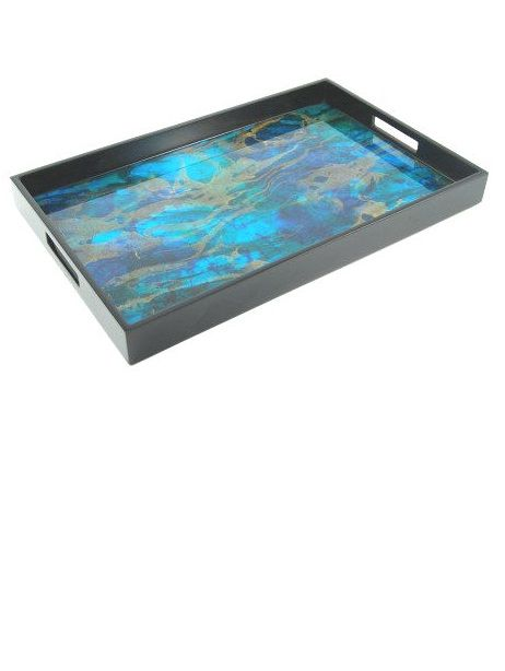 Luxury Limited Production Trays 22 Ocean Blue High Gloss Tray