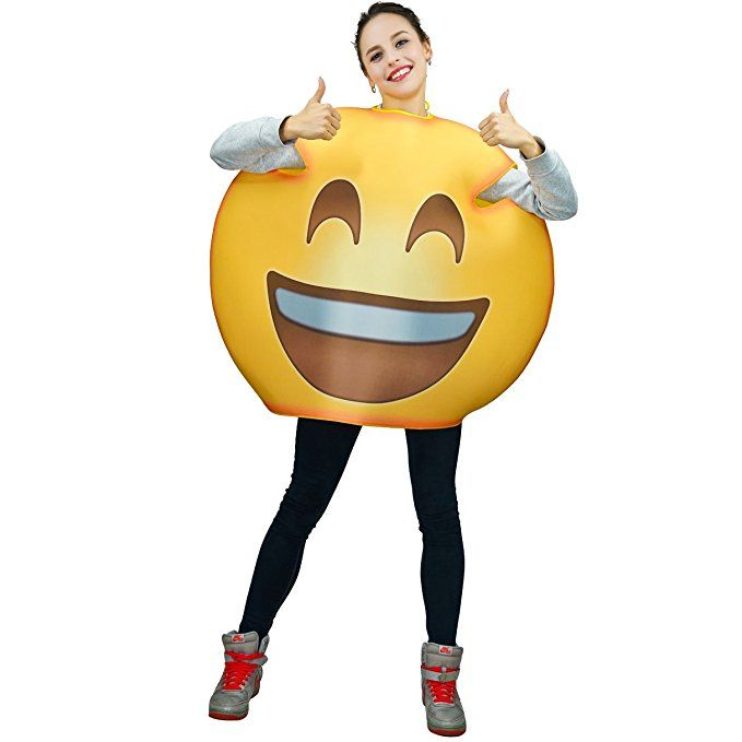 Cry Laugh Emoji Costume Unisex Kid Funny Cry Laugh Emoticon Fancy Dress
