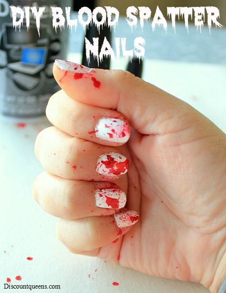 DIY Blood Spatter Nails!! So Easy and So Creepy ...
