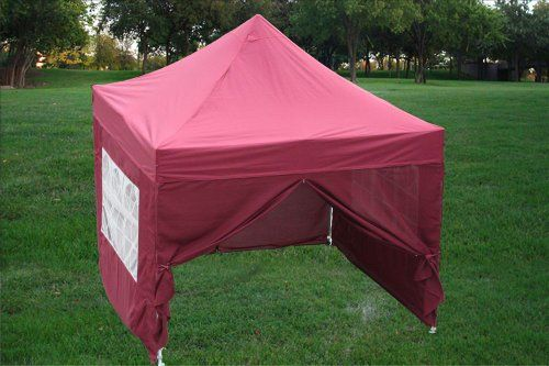 special offers 1010 pop up 4 wall canopy party tent gazebo ez maroon f model