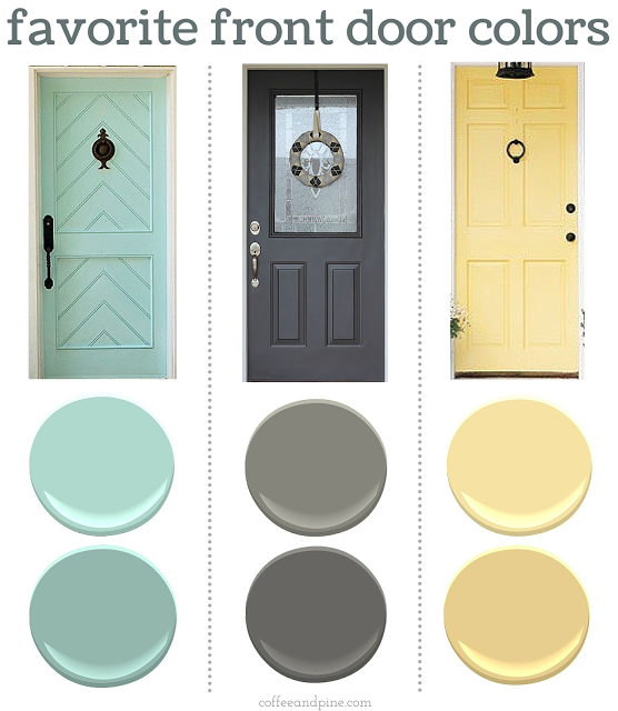 Finding the perfect front door color can be tricky here Front door color ideas for beige house