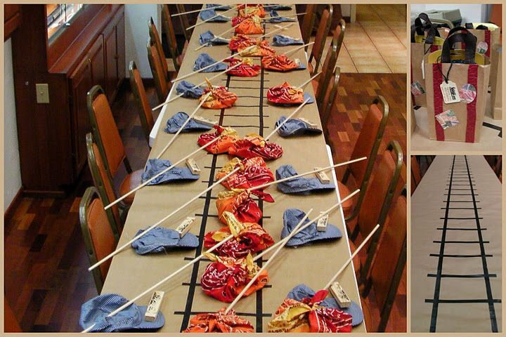 Will have to create a railroad table cloth! | Train | Pinterest