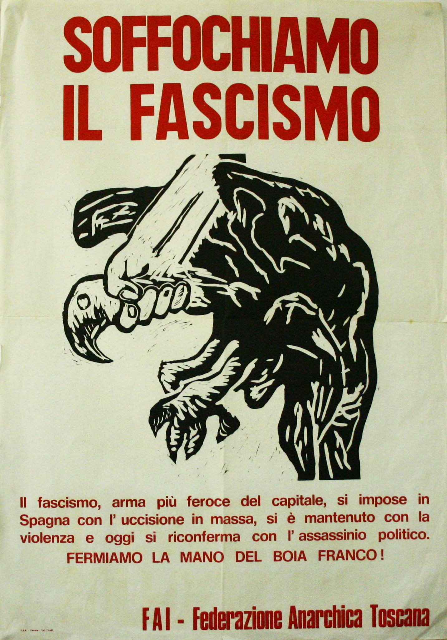 Suffocate Fascism Italian Antifascist Poster In Support Of - Anti fascismos map us