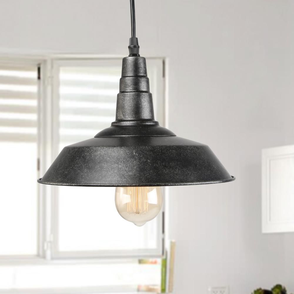 Lnc 1 Light Blackened Steel Indoor Ceiling Hanging Pendant A0190706 In 2020 With Images Rustic Pendant Lighting Transitional Pendant Lighting Pendant Light