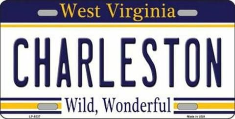 Charleston West Virginia State Background Novelty License Plate #westvirginia