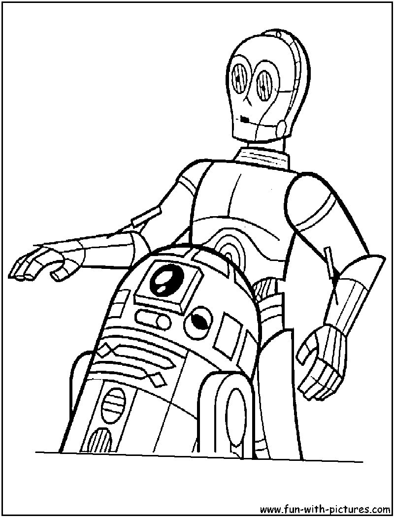 star wars coloring page r2 and 3po  star wars coloring