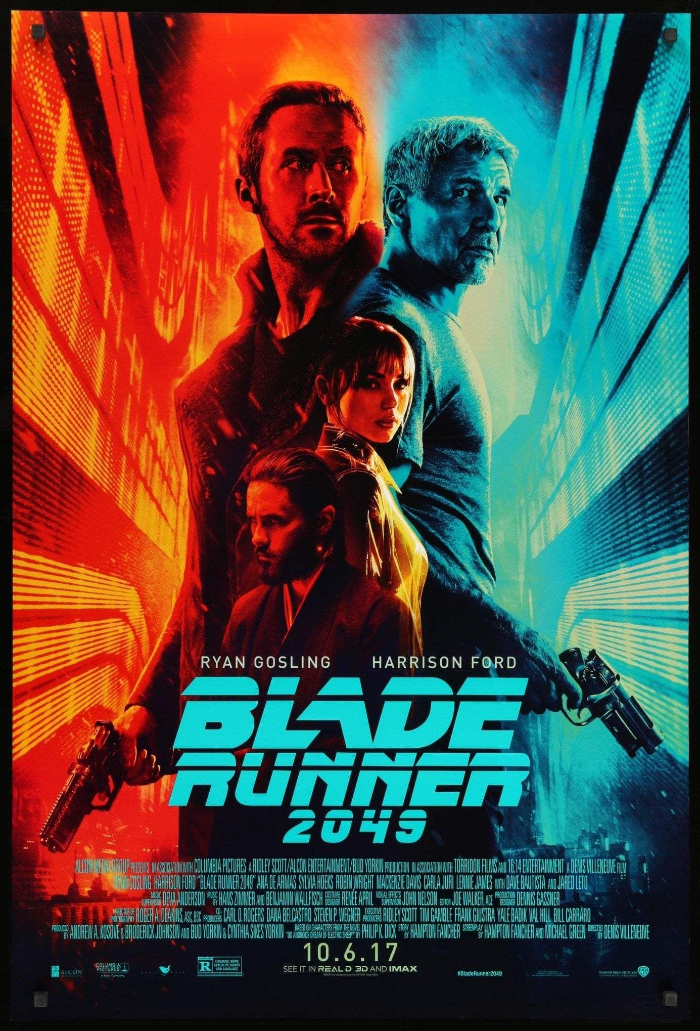 Blade Runner 2049 (2017) USA Sony/Columbia Sci-fi D: Denis Villeneuve  Co-Exec. Prod: Ridley Scott. Ryan Gosling… in 2020   Blade runner 2049, Blade  runner, Streaming movies