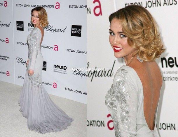 Miley Cyrus Formal Dresses