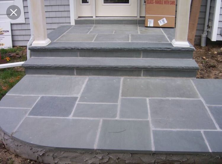 Pin By Christian Buddie On Patio Front Porch Stone Bluestone Patio Porch Tile