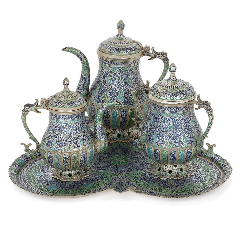 Tea And Coffee Set With Tray