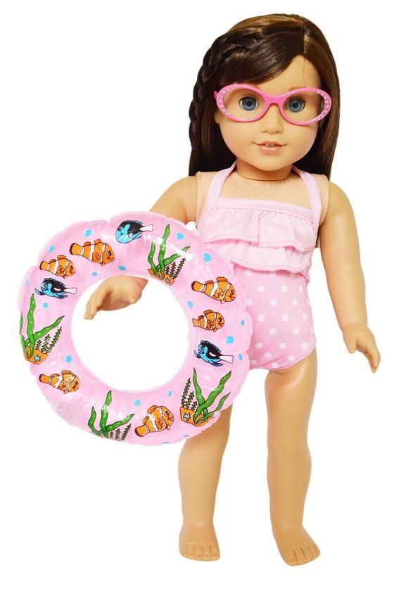 Summer Swimsuit Set for American Girl Dolls | 18 Inch Doll Clothes | American Girl Doll Clothes | Our Generation Doll Clothes #18inchdollsandclothes