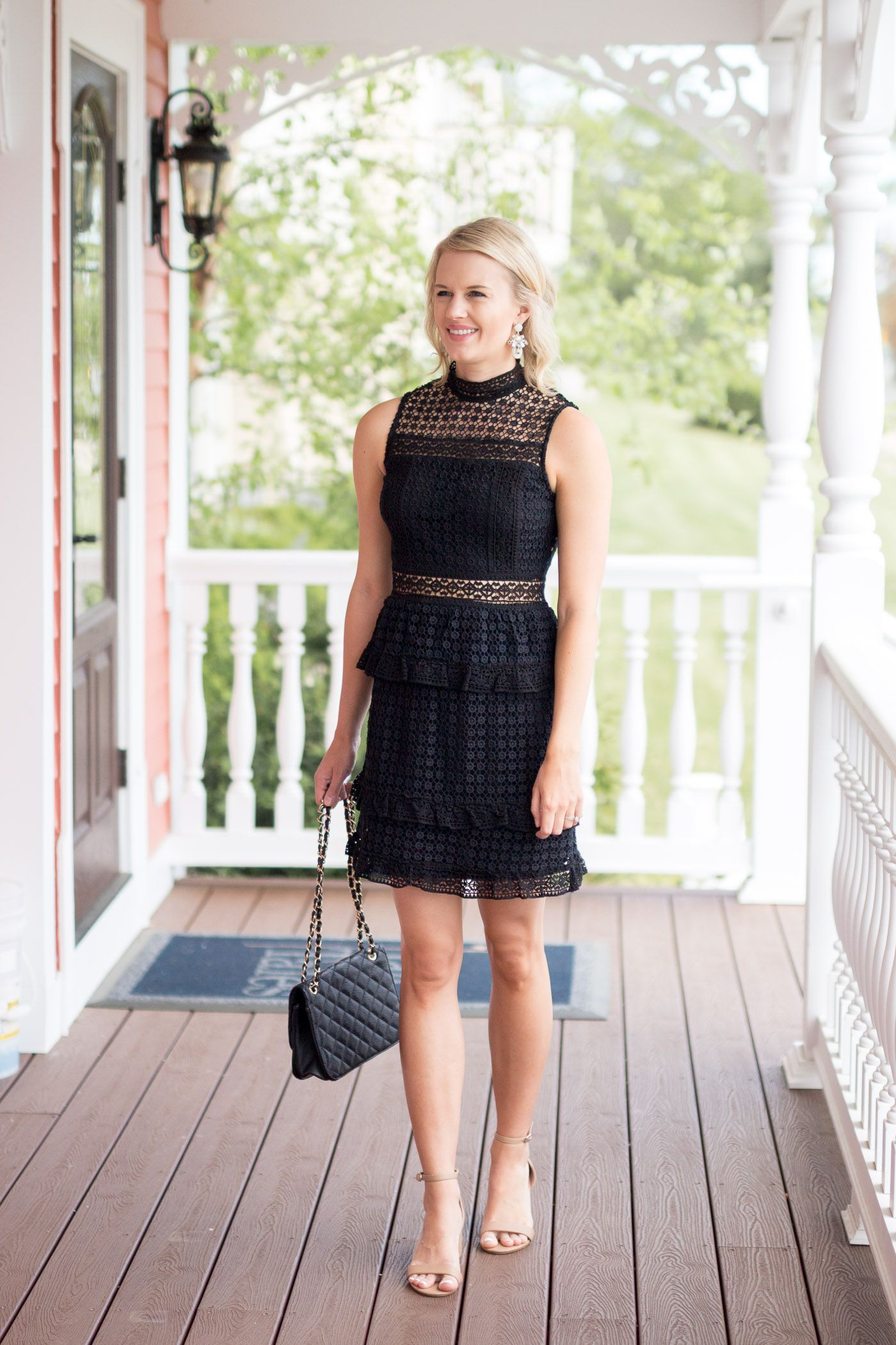The Perfect Little Black Dress For Wedding Season Treats And Trends Black Lace Dress Outfit Little Black Dress Perfect Little Black Dress [ 2100 x 1400 Pixel ]