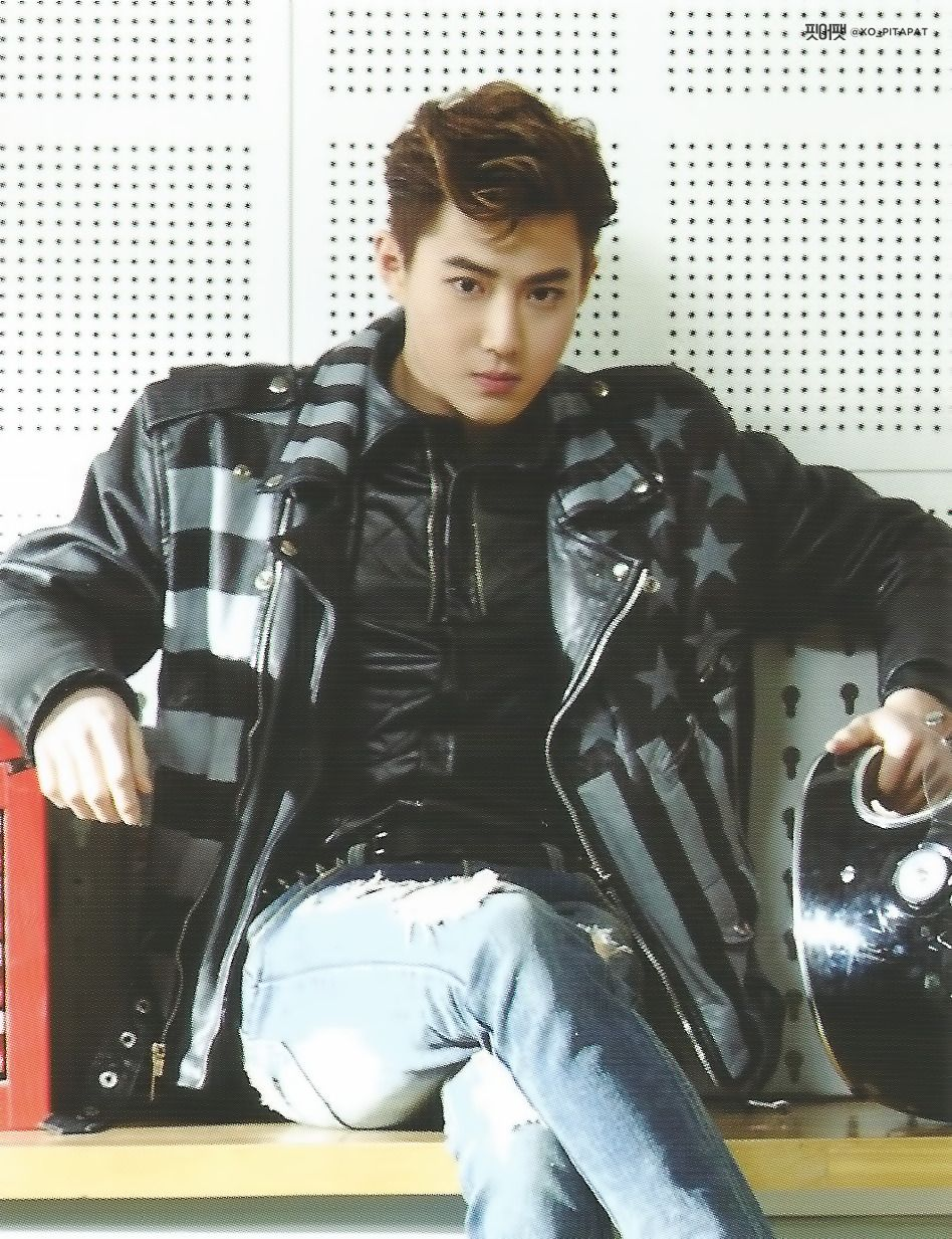 Suho Exo I Love His James Dean Look In Call Me Baby So